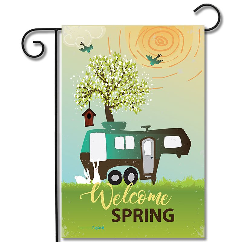 Garden Flag Welcome Spring 5th Wheel
