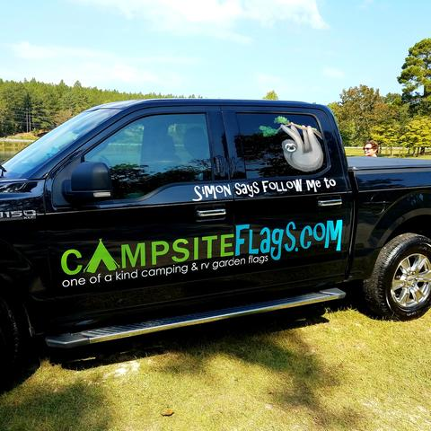 campsiteflags truck wrap